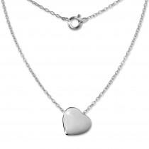 SilberDream Kette Herz 925er Sterling Silber 45cm Halskette SDK8000J