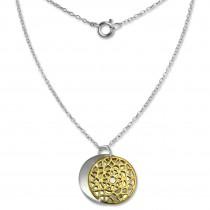 SilberDream Kette Doppel Plakette gold vergoldet 925 Silber 45 cm SDK8008Y