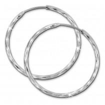 SilberDream Creole glänzend 40mm Damen Ohrring 925 Sterling Silber SDO0084J