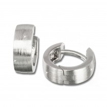SilberDream Creole Matt klein 12mm 925 Sterling Silber Ohrring SDO333M2