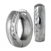 SilberDream Creole diamantiert 14mm 925 Sterling Silber Ohrring SDO392J
