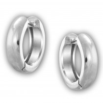 SilberDream Creole Glanz 14mm 925 Sterling Silber Ohrring SDO4300J