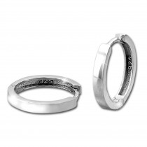 SilberDream Creole Glanz 17mm 925 Sterling Silber Ohrring SDO4310J