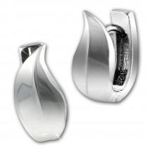 SilberDream Creole Blatt 925 Sterling Silber Damen Ohrring SDO4330J
