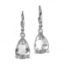 SilberDream Ohrhänger Träne weiß Ohrring 925 Silber SDO520W