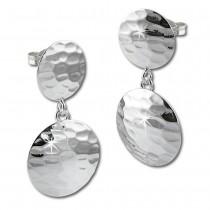 SilberDream Ohrring Muster rund 925 Sterling Silber Ohrhänger SDO574J