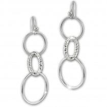 SilberDream Ohrhänger Ringe 925 Sterling Silber Damen Ohrringe SDO6704J
