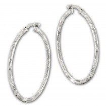 SilberDream Creole Orient 4cm 925 Sterling Silber Damen Ohrring SDO67374