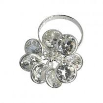 SilberDream Ring Gr.17 Blume 925 Silber Zirkonia SDR001W7