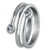 SilberDream Ring Dream Zirkonia weiß Gr.54 Sterling 925er Silber SDR406W54