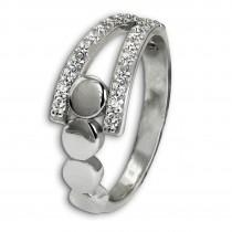SilberDream Ring Kreise Zirkonia weiß Gr.54 aus 925er Silber SDR407W54