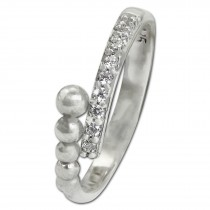 SilberDream Ring Kugeln Zirkonia weiß Gr.60 aus 925er Silber SDR409W60