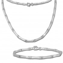 SilberDream Schmuck Set Zirkonia Collier & Armband Damen 925 Silber SDS436W