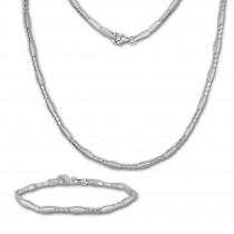 SilberDream Schmuck Set Glamour Collier & Armband Damen 925 Silber SDS443J