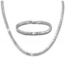 SilberDream Schmuck Set Pfeile Zirkonia Collier & Armband Damen 925er SDS451W