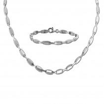 SilberDream Schmuck Set Design Collier & Armband Damen 925 Silber SDS469J