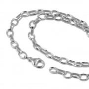 SilberDream Sterling Silber Charm Bettel Halskette 55cm FC0023