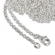 SilberDream Sterling Silber Charm Kette Halskette 60cm FC00286-1