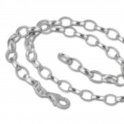 SilberDream Sterling Silber Charm Halskette Bettel 80cm FC0125