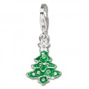 SilberDream Silber Charm Weihnachtsbaum Armband Anhänger FC3113