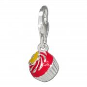 SilberDream Charm Muffin Blume 925er Silber Armband Anhänger FC3140P