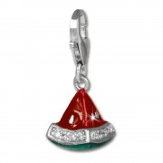 SilberDream Charm Melone Zirkonia Kristall 925 Armband Anhänger FC3141