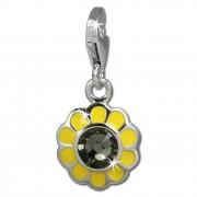 SilberDream Charm Sonnenblume gelb 925er Armband Anhänger FC842Y