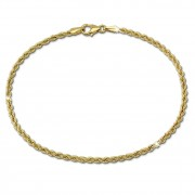 GoldDream Armband Kordel 333 Gold 18,5cm 8 Karat GDA0079Y