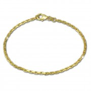 GoldDream Armband Anker diamantiert 333 Gold 18,5cm 8 Karat GDA0218Y