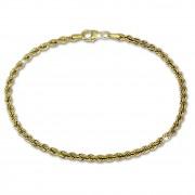 GoldDream Armband Kordel hohl 333 Gold 19cm 8 Karat GDA0319Y