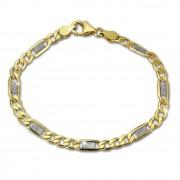 GoldDream Armband Fantasie bicolor 333 Gold 19cm 8 Karat GDA0379T