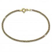 GoldDream Armband Kordel hohl bicolor 333 Gold 18,5cm 8 Karat GDA0388T