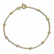GoldDream Armband Kugeln 333 Gold 18,5cm 8 Karat Echtschmuck GDA0560Y