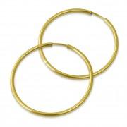 GoldDream Creole Simply 40mm Ohrring 333 Gelbgold Echtschmuck GDO0004Y