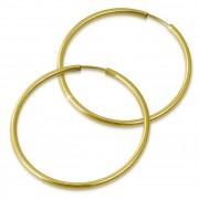 GoldDream Creole Simply 50mm Ohrring 333 Gelbgold Echtschmuck GDO0005Y