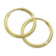 GoldDream Goldcreole Schliff 20mm Ohrring 333 Gelbgold Echtschmuck GDO0042Y