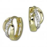 GoldDream Creole Welle Zirkonia weiß Ohrring 333 Gelbgold Echtschmuck GDO5021Y