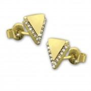 GoldDream Ohrstecker Dreieck Zirkonia Ohrring 333 Gold Echtschmuck GDO5208Y