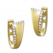 GoldDream Creole Elegance Zirkonia weiß Ohrring 333 Gold Echtschmuck GDO522WY