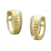 GoldDream Creole Muster Zirkonia weiß Ohrring 333 Gold Echtschmuck GDO523WY