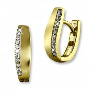 GoldDream Creole Beauty Zirkonia weiß Ohrring 333 Gold Echtschmuck GDO533WY