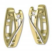 GoldDream Creole Modern Zirkonia bicolor Ohrring 333 Gold Echtschmuck GDO5626Y