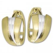 GoldDream Creole Fächer bicolor Ohrring 333 Gold Echtschmuck GDO5636T