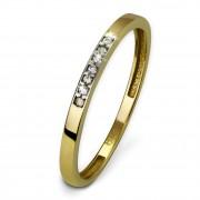 GoldDream Gold Ring Zirkonia weiß Gr.56 333er Gelbgold GDR502Y56