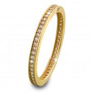 GoldDream Gold Ring Zirkonia weiß Gr.56 333er Gelbgold GDR504Y56