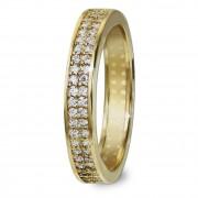 GoldDream Gold Ring Gr.58 Zirkonia weiß 333er Gelbgold GDR514Y58