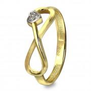 GoldDream Gold Ring Gr.56 Unendlich mit Herz 333er Gelbgold GDR516Y56