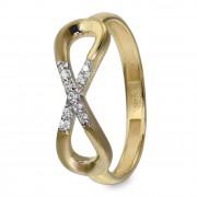 GoldDream Gold Ring Infinity Gr.54 Zirkonia 333er Gelbgold GDR519Y54