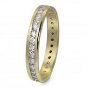 GoldDream Gold Ring Gr.58 Zirkonia weiß 333er Gelbgold GDR520Y58