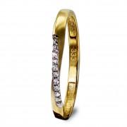 GoldDream Gold Ring Gr.60 Swing Zirkonia weiß 333er Gelbgold GDR523Y60